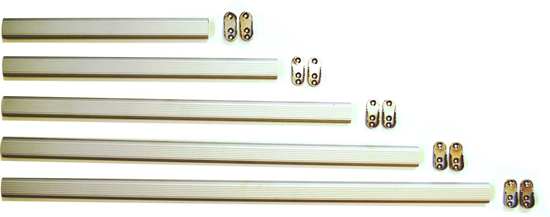 Aluminium wardrobe rail