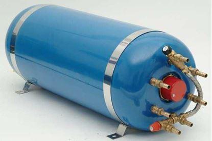Picture of 40 litre horizontal twin coil Surecal calorifier