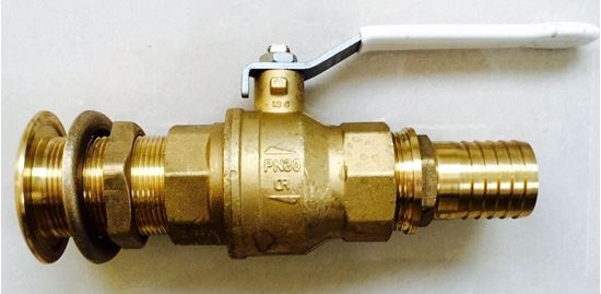 "Picture of 3/8"" DZR Ball Valve Supplied With DZR Skin Fitting and Hose Connector"
