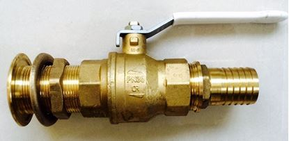 "Picture of 1"" DZR Ball Valve Supplied With DZR Skin Fitting and Hose Connector"